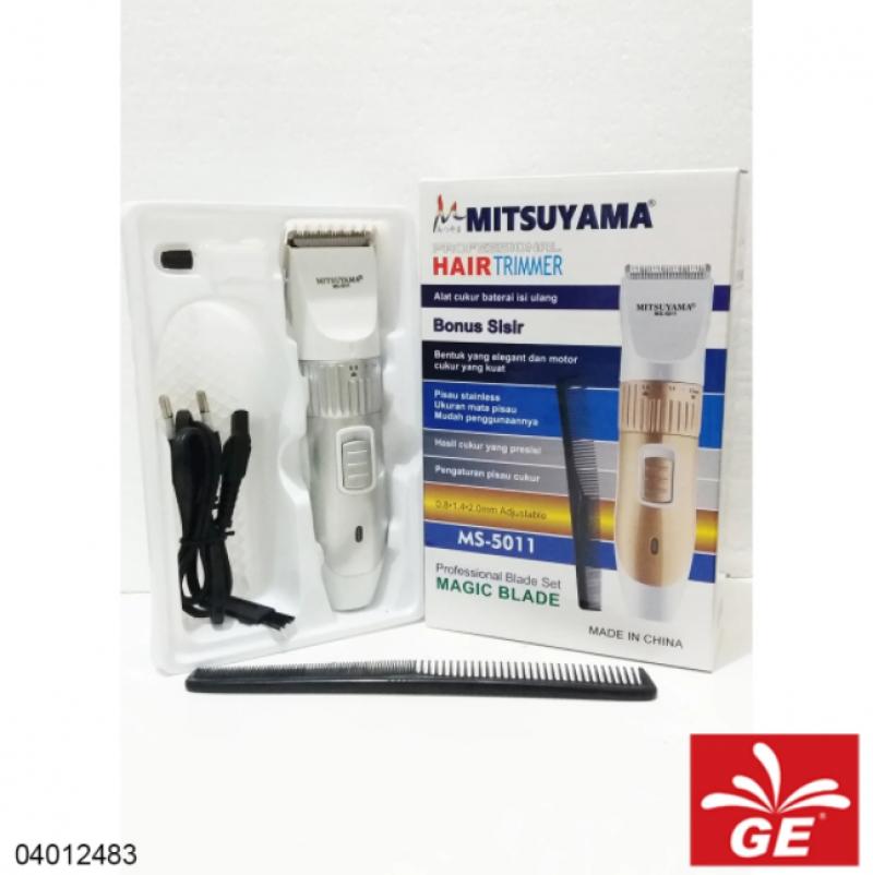 Alat Cukur Rambut Rechargeable MITSUYAMA MS-5011 Bonus Sisir