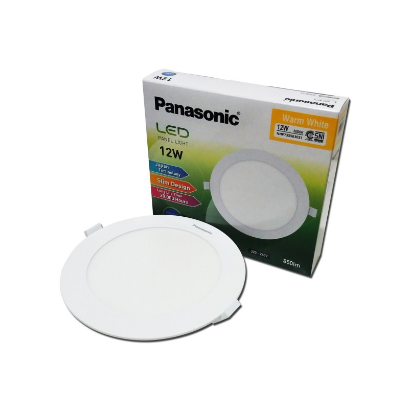 Lampu Downlight LED PANASONIC NNP 735563031 Warm White 12W 155mm