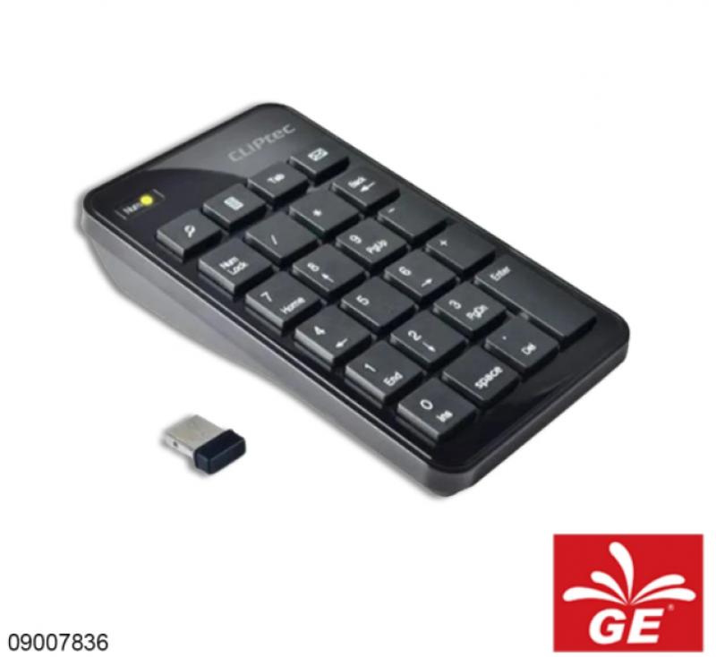 Keyboar Mini CLIPTEC RZK-222 Wireless Numeric Keypad 09007836