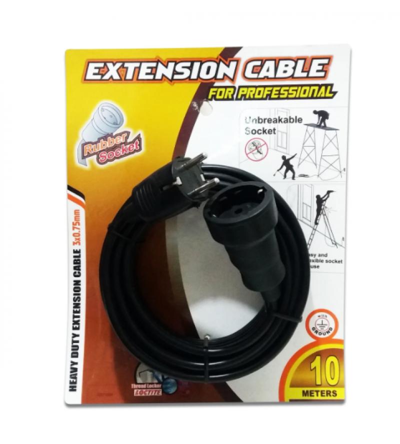 Kabel Extension Rubber Socket (Kabel Federal) 10m 02015334