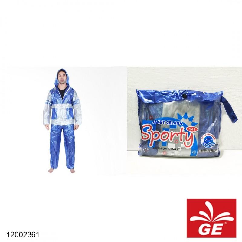 Jas Hujan DOLPHIN BLUE All Size Dewasa 12002361