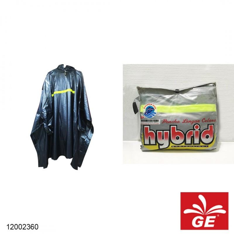 Jas Hujan DOLPHIN BLUE 672 Poncho Lengan Celana All Size Dewasa
