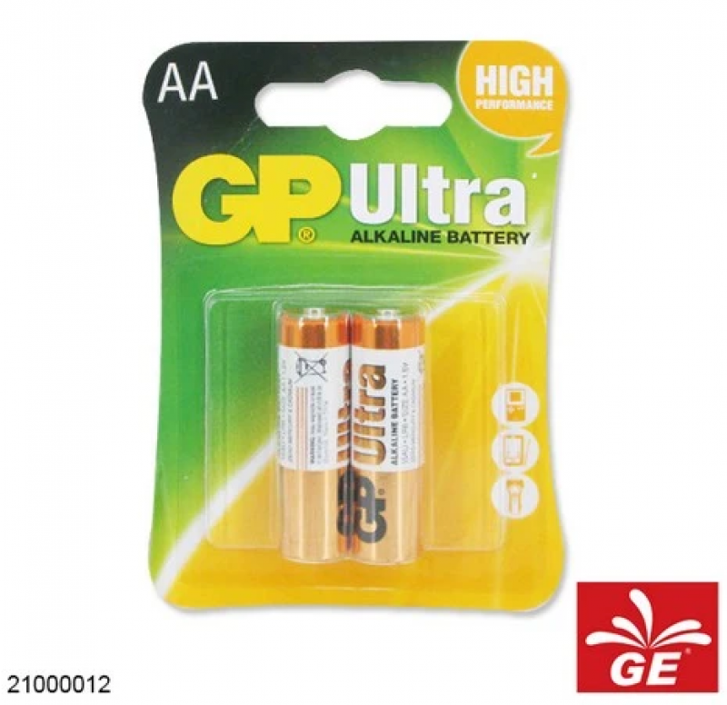 BATERAI GP AA / A2 BP2 ULTRA ALKALINE 21000012