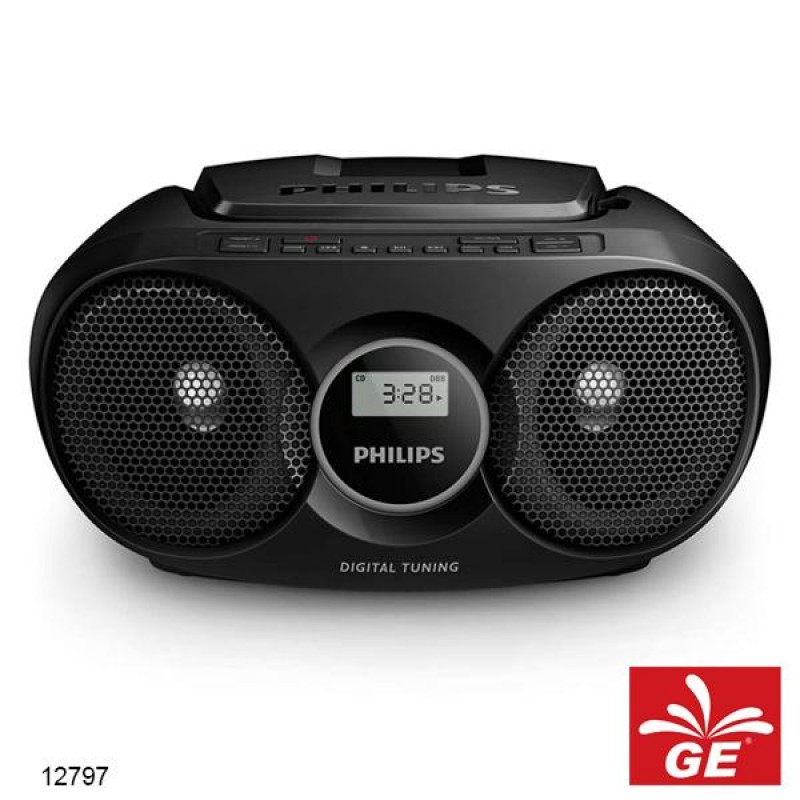 PHILIPS AZ215 HITAM SOUND MACHINE PEMUTAR CD/FM RADIO MODEL BARU