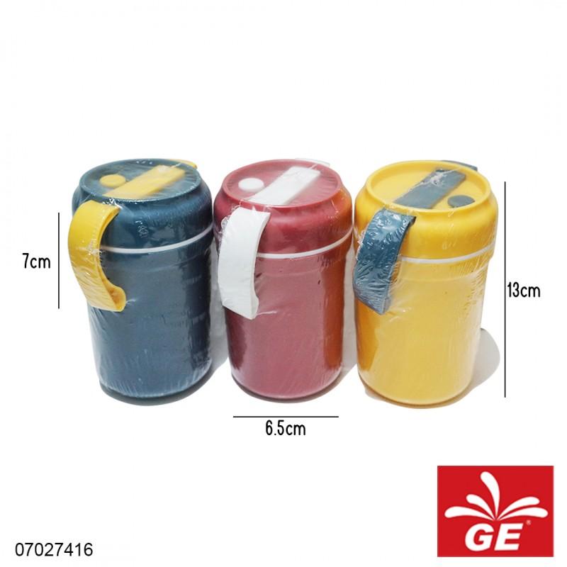 Gelas Sup+Sendok Minimalis Kuning/Merah/Biru 07027416