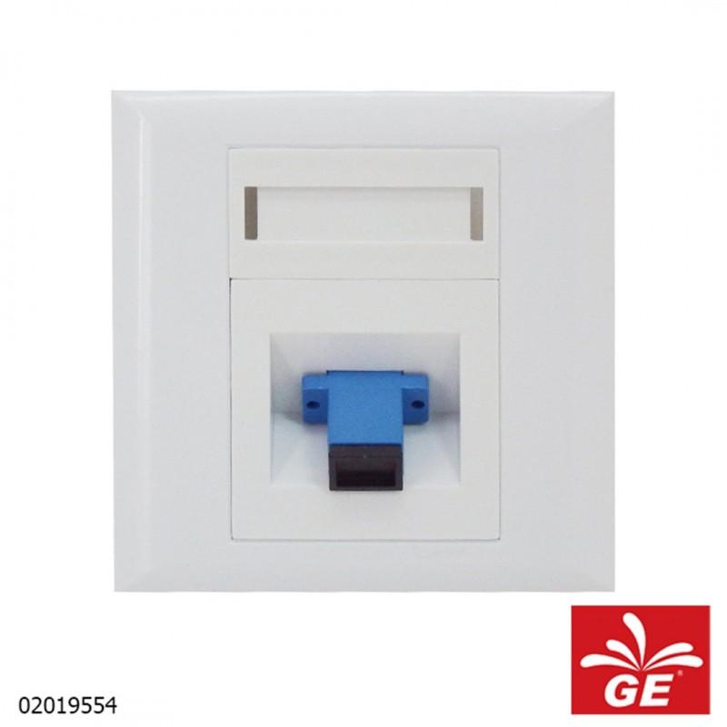 Adapter FIBER OPTIC SC Adaptor Wall Kace Plate 02019554