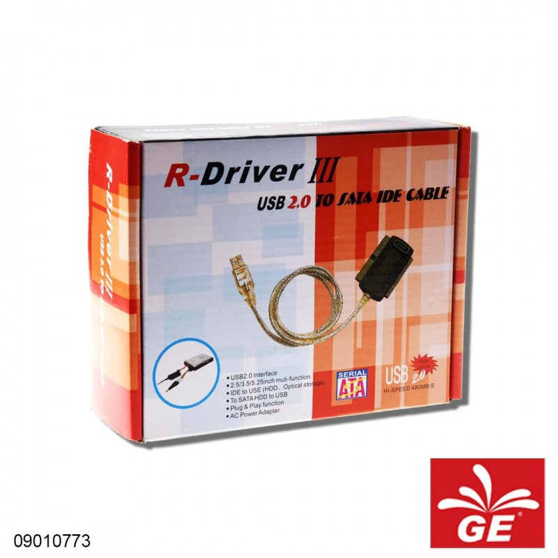 Adaptor R-DIVER II USB 2.0 To SATA/IDE Cable 09010773