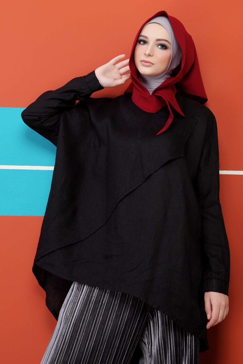 LAmont Plain Blouse Black