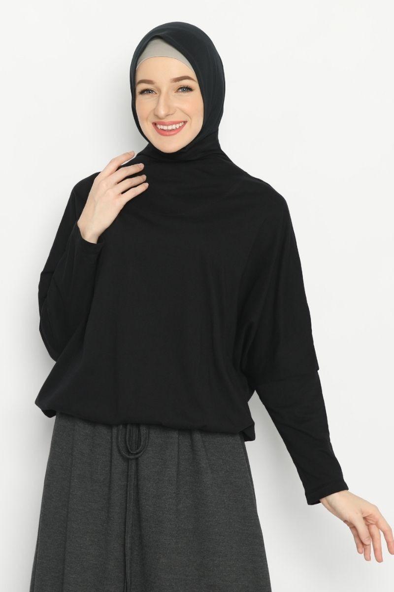 Lanai blouse Combo Black & Green