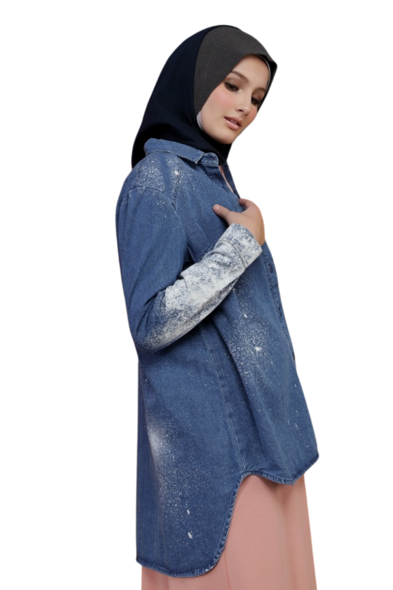 Khalee Shirt Plain Denim 0463 0619