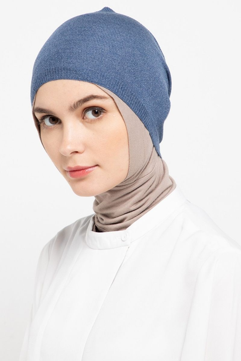 Headband Knitting Denim Blue Nw