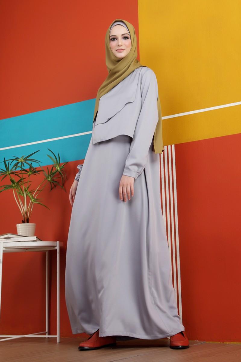 Lika Dress 2Layers Grey