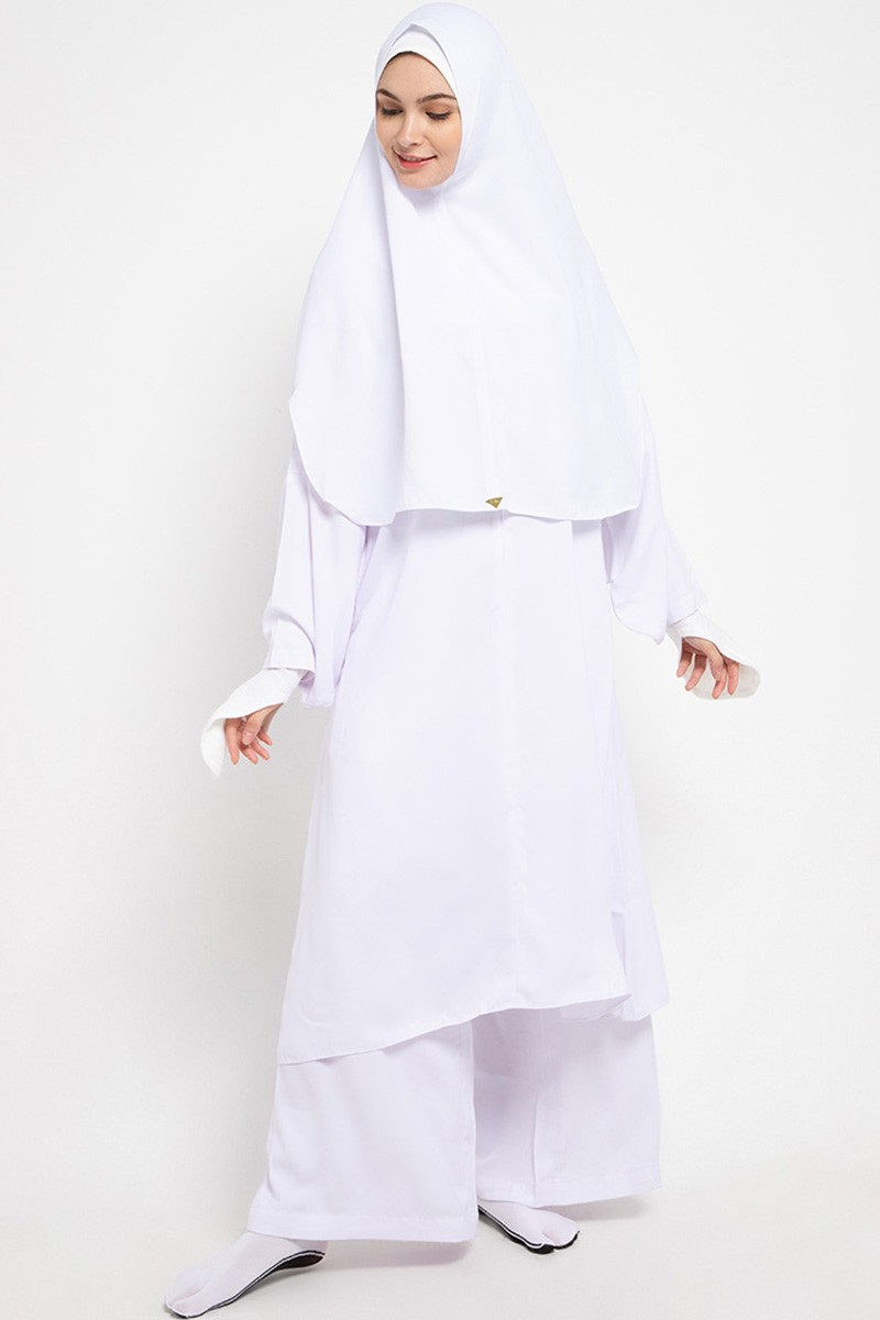 Askha Tunic Set Epaulette White