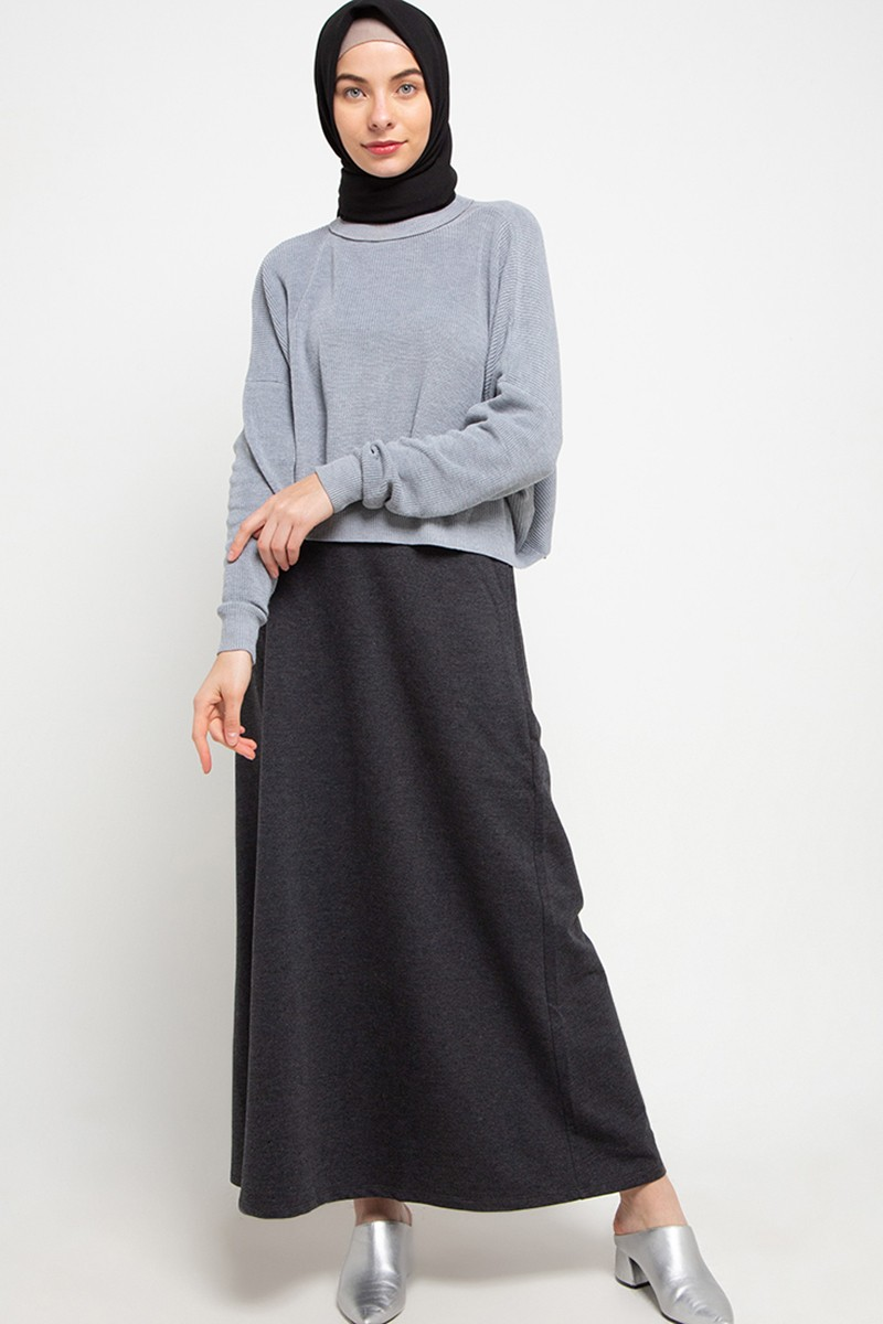 CONCORD Skirt Plain Grey 0820