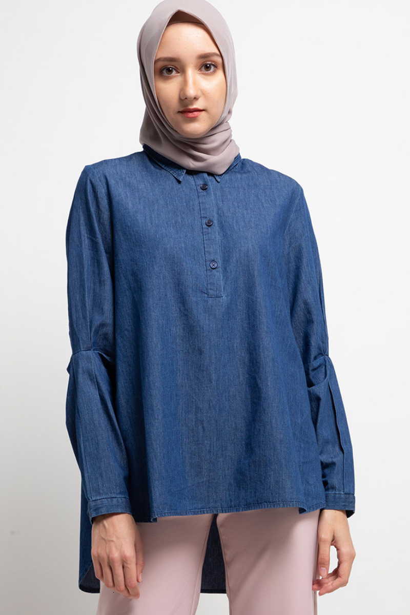 Blomstre Shirt Denim 0894