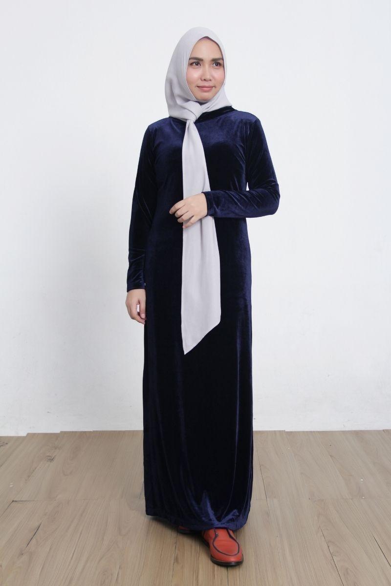 Hartigan Dress Velvet Blue