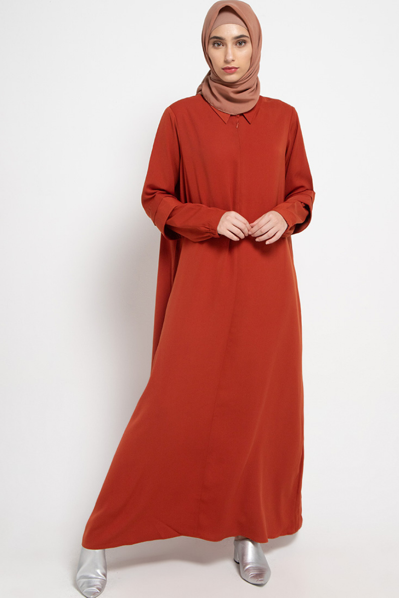 Samwell Dress Plain Terracotta 0720 0120