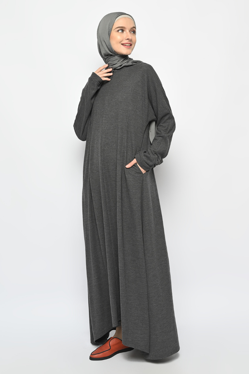 Leia Dress Dark Grey