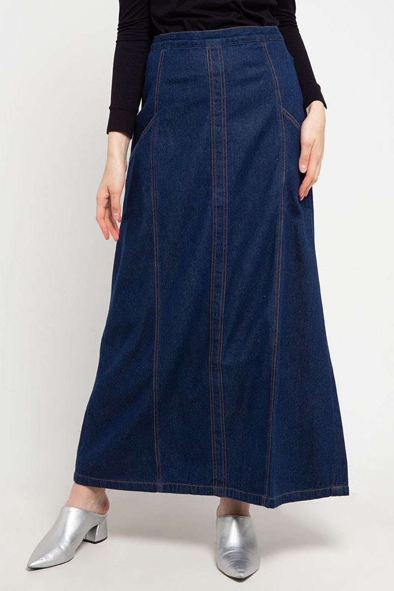 Metaline Denim Dress Dark Navy - L.tru