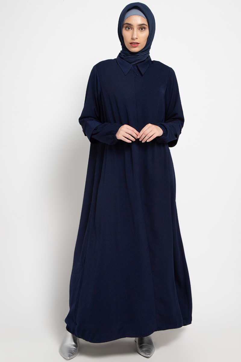 Samwell Dress Plain Navy 0720 0120