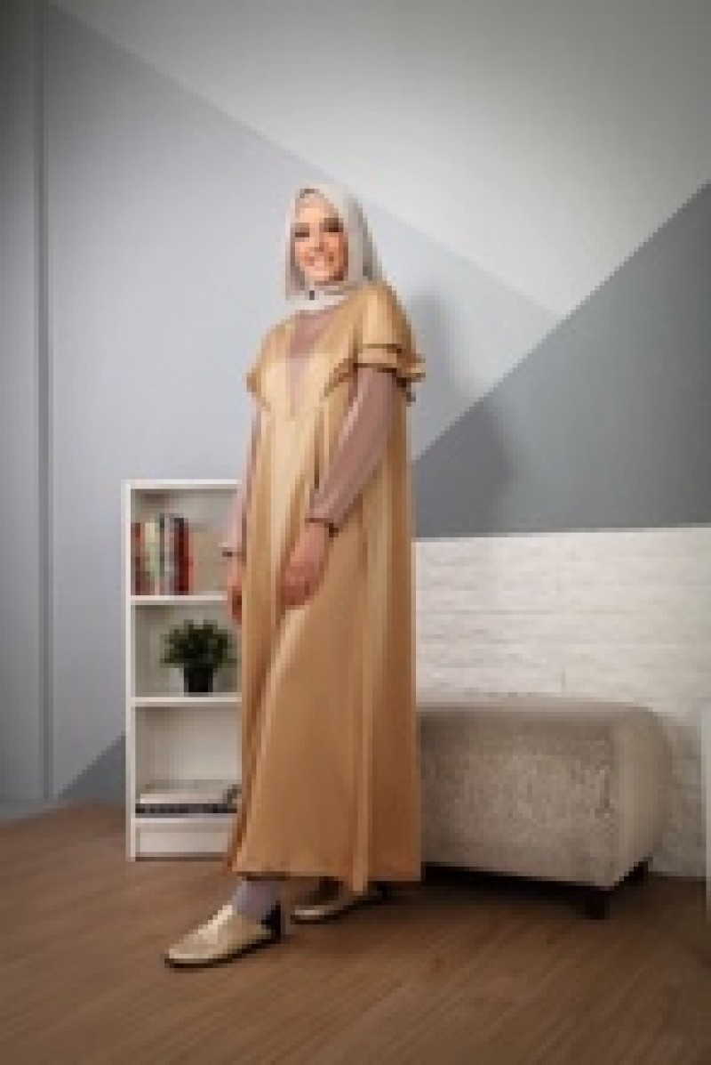 Memoire Dress Plain Brown
