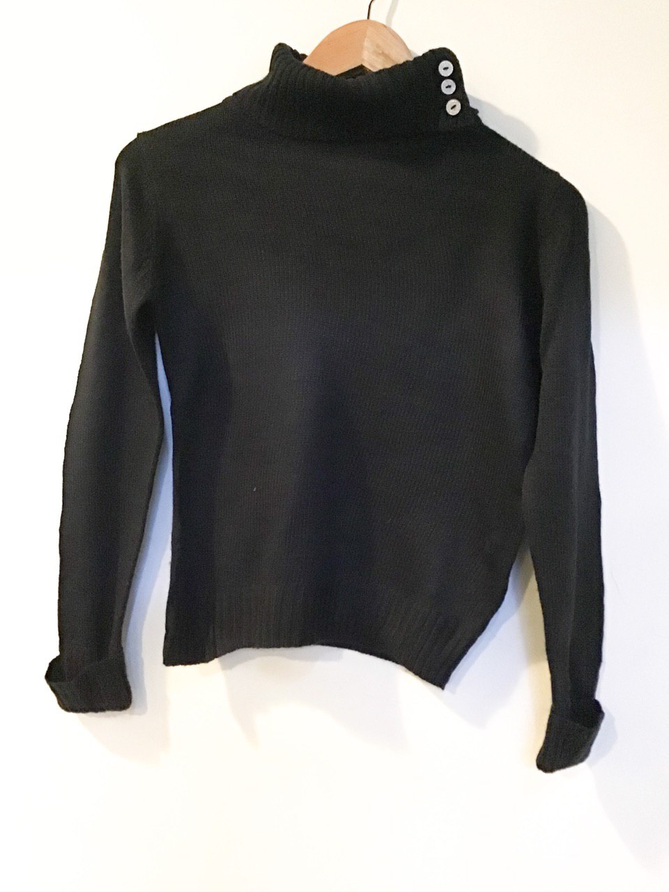 BJ1483 BLACK KNITWEAR