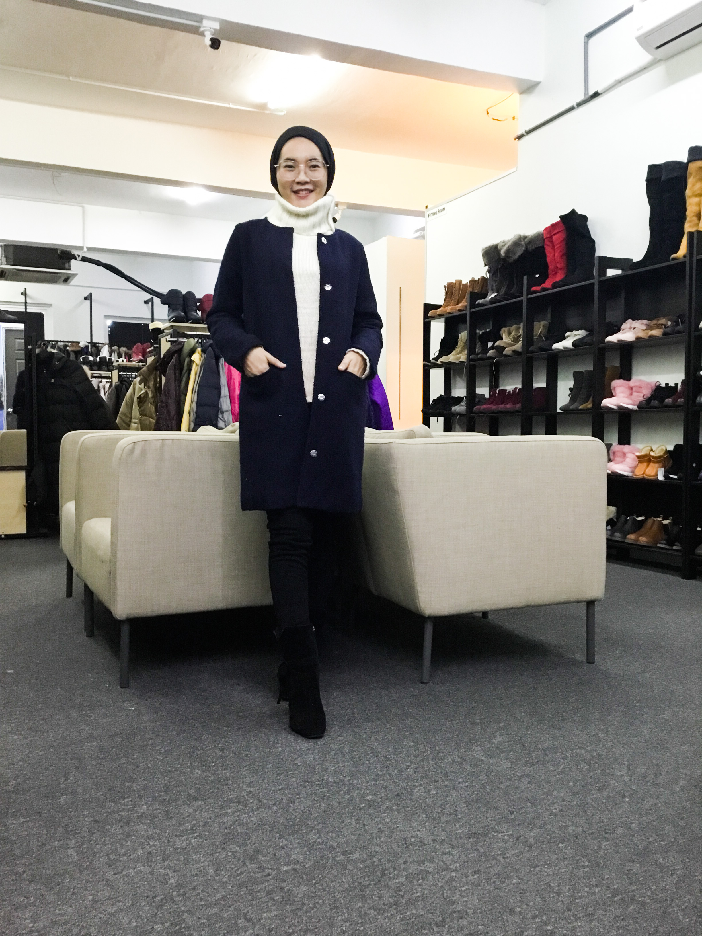 BP6640 ANTIQULOTHES WOOL COAT