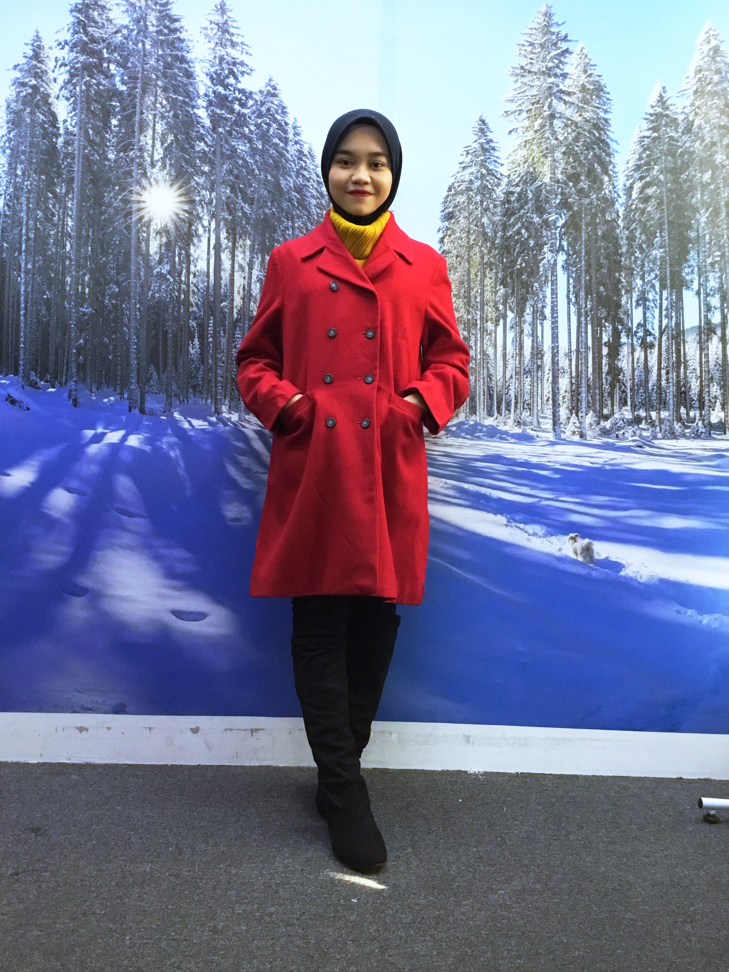 BP5138 RED TRENCH COAT