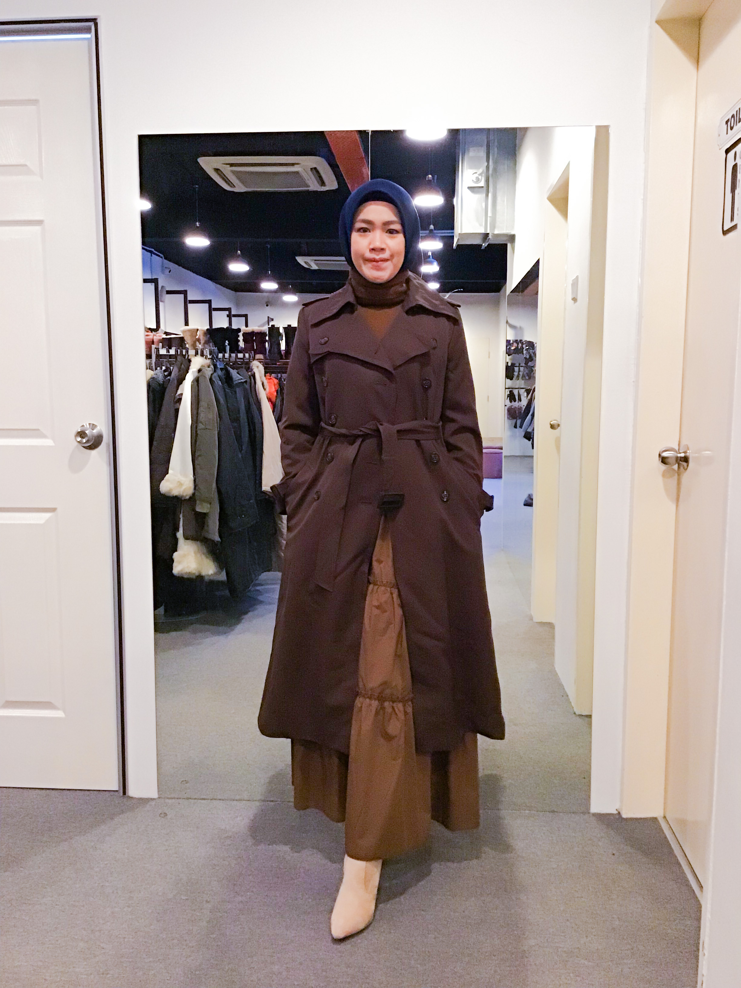 BJ1166 MISS ONWARD DOUBLE BREAST TRENCH COAT