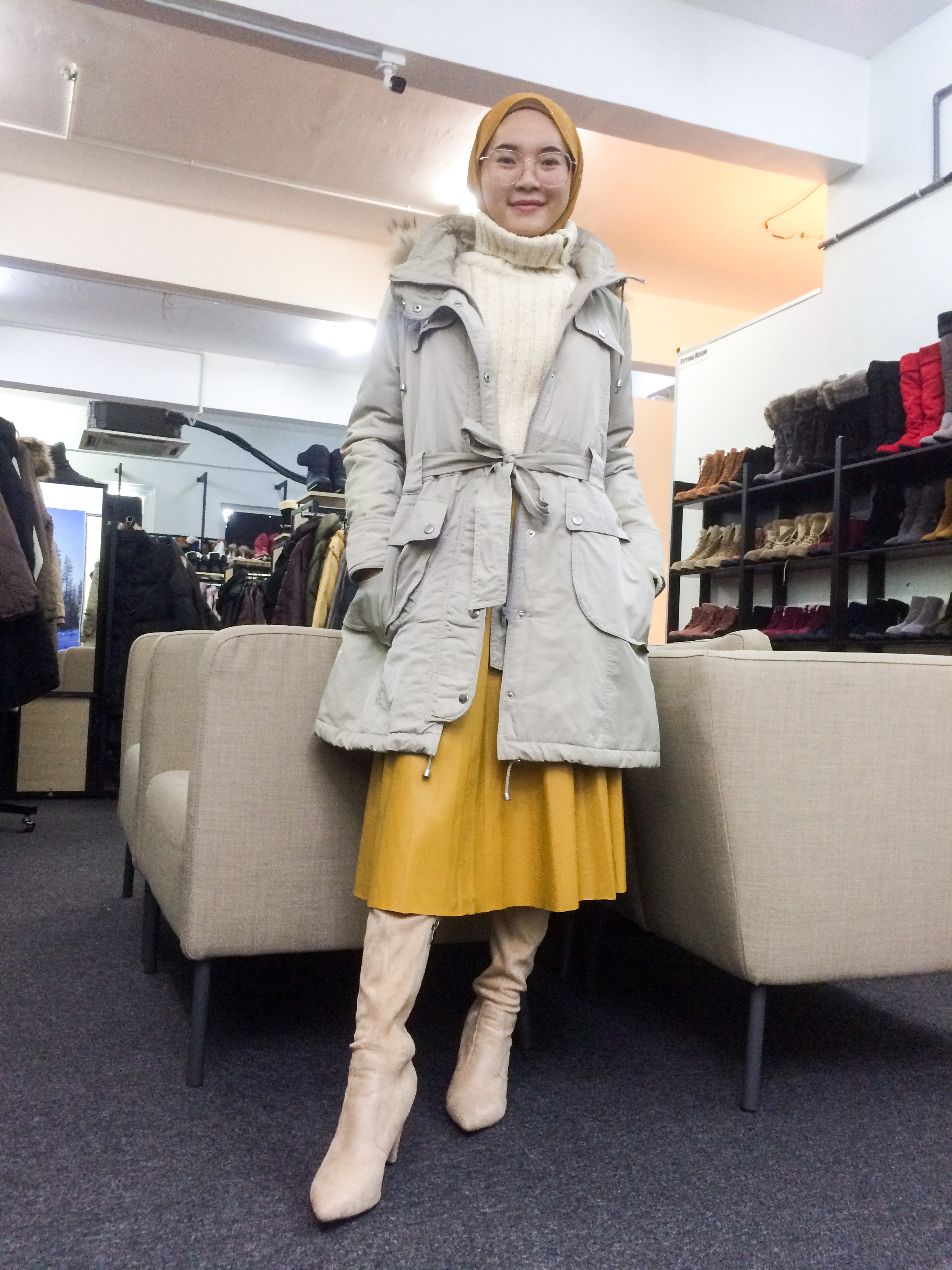 BP6645 BEIGE WINTER JACKET