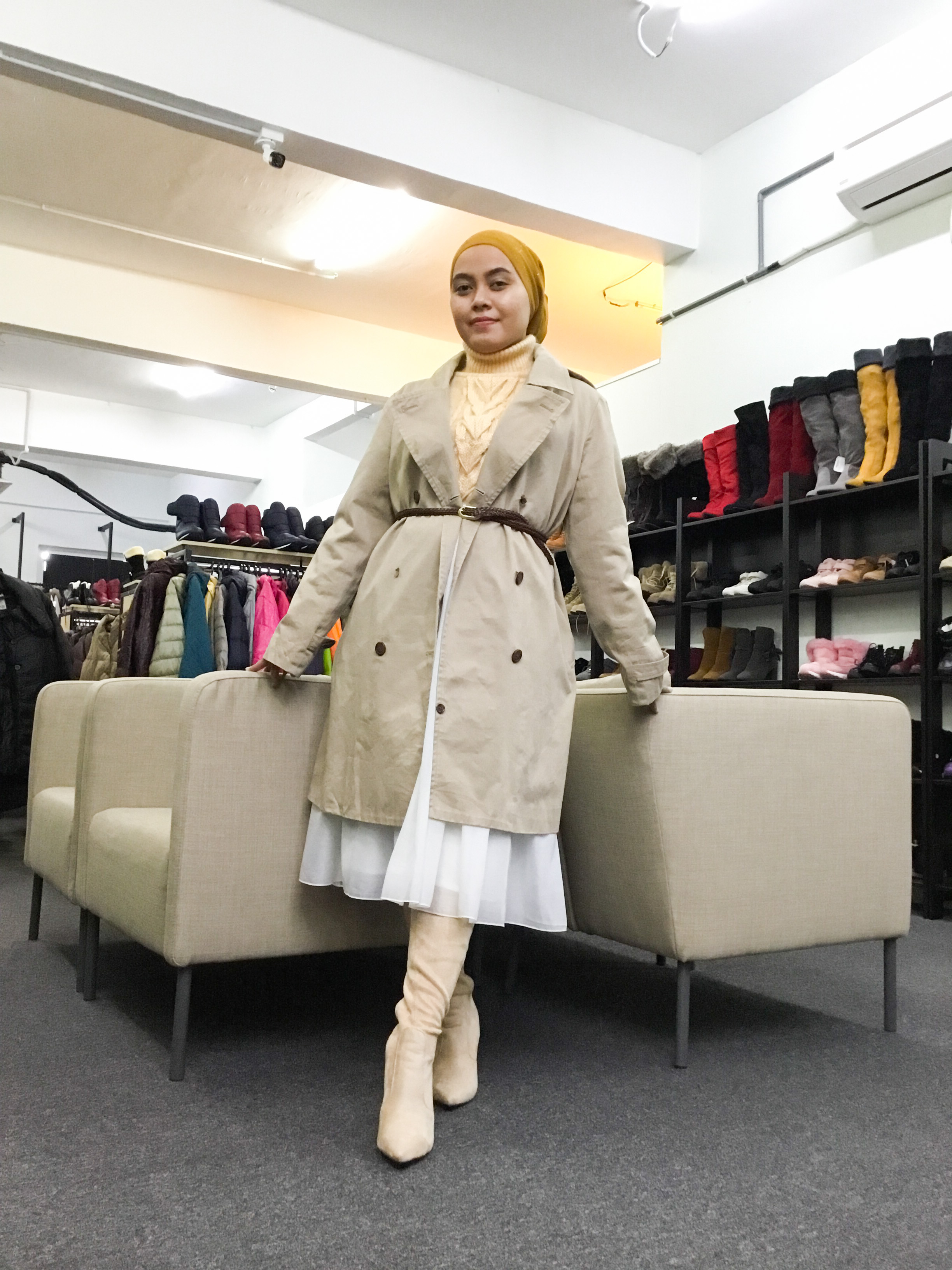 BP6495 KHAKI TRENCH COAT