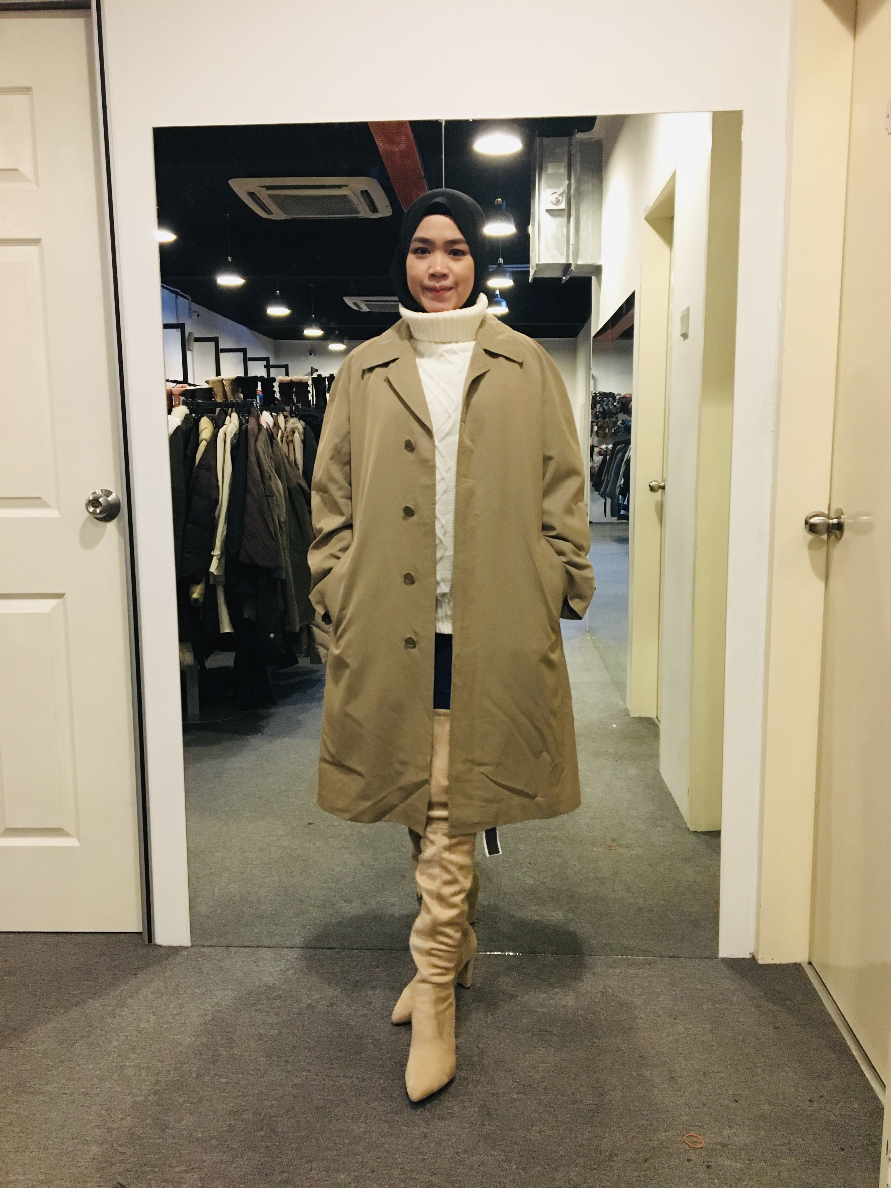 BJ1004 BLUE FLAG TRENCH COAT