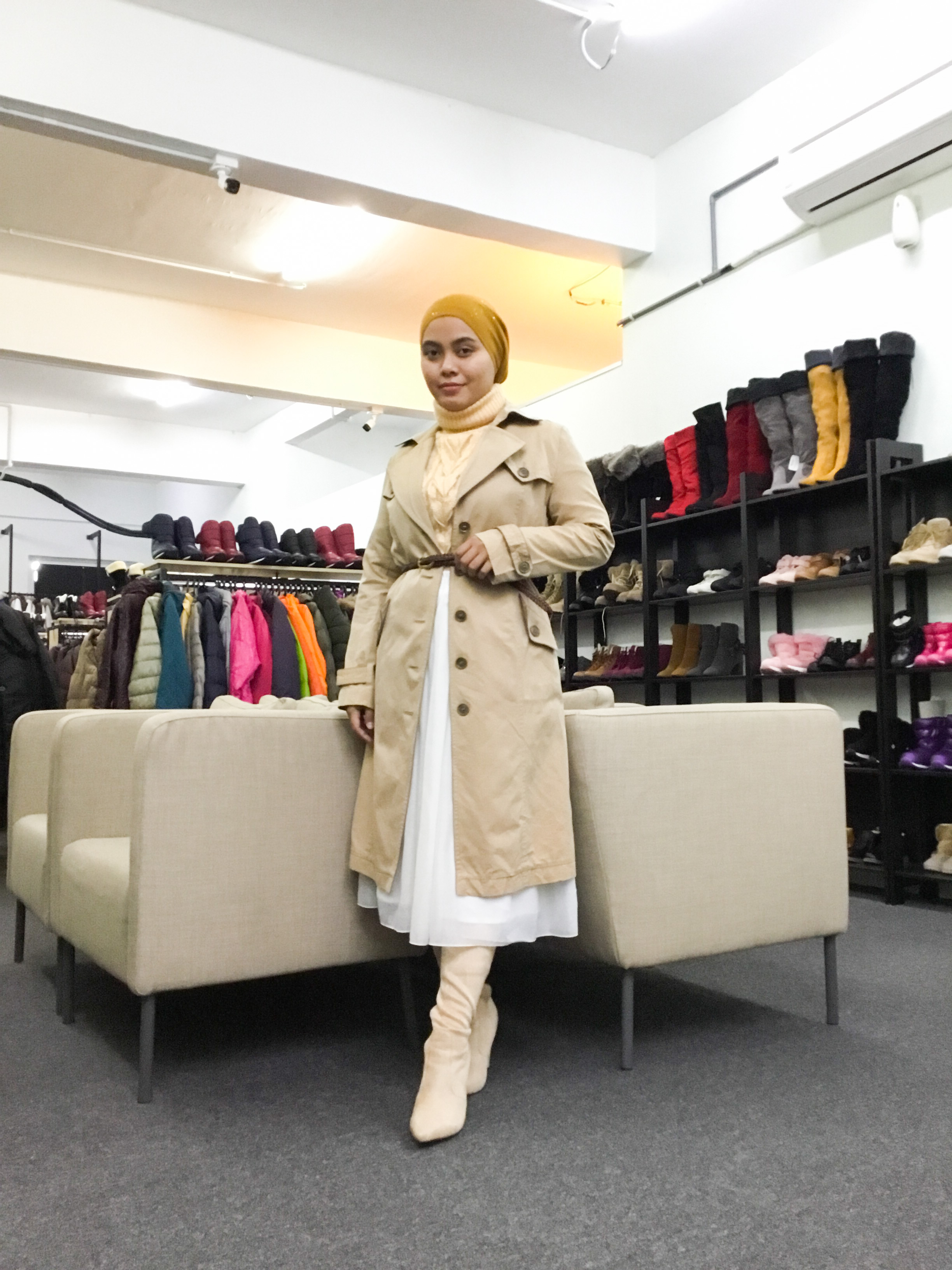 BP6488 BEIGE TRENCH COAT