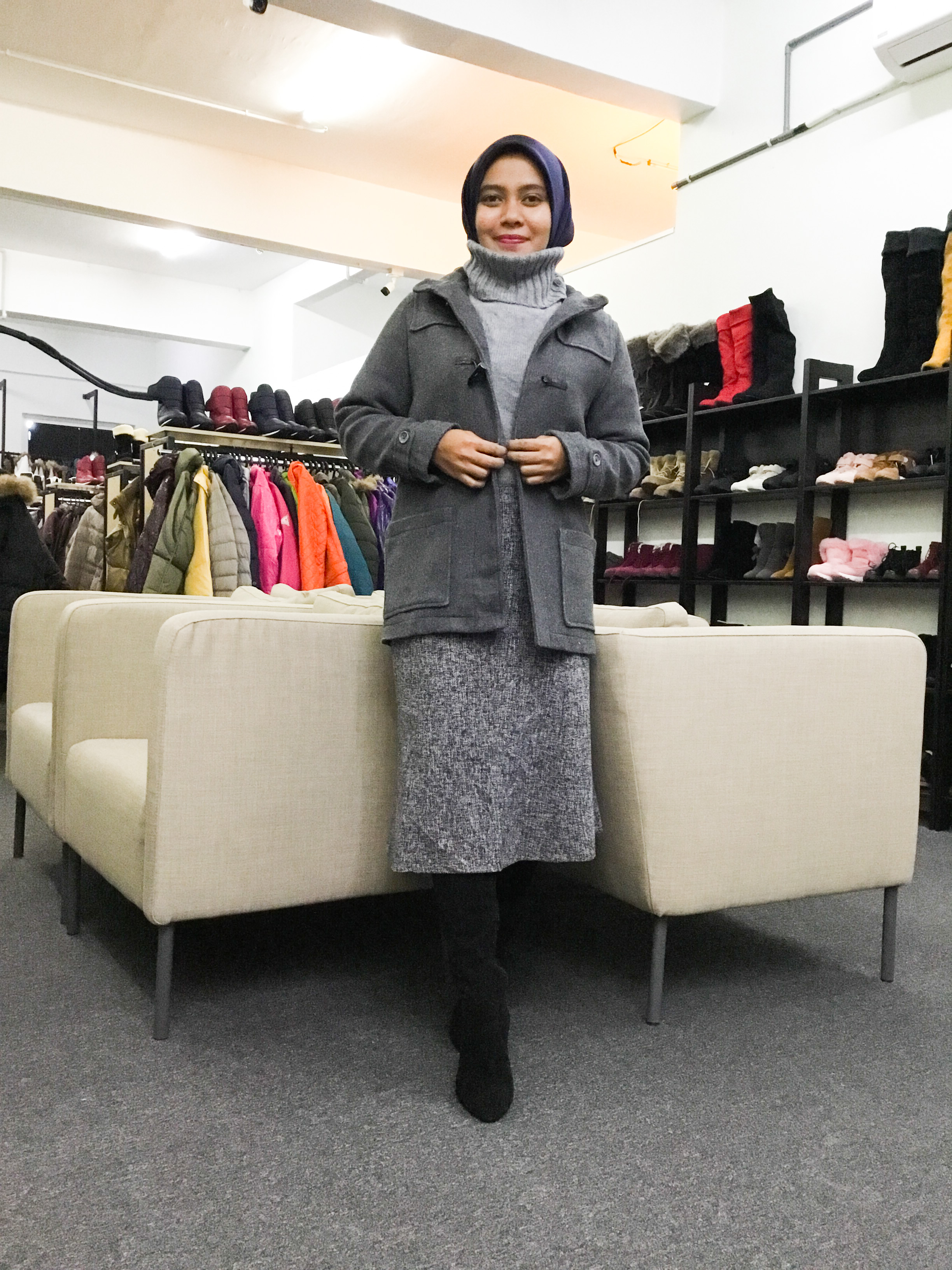 BP6573 GU WOOL DUFFLE COAT