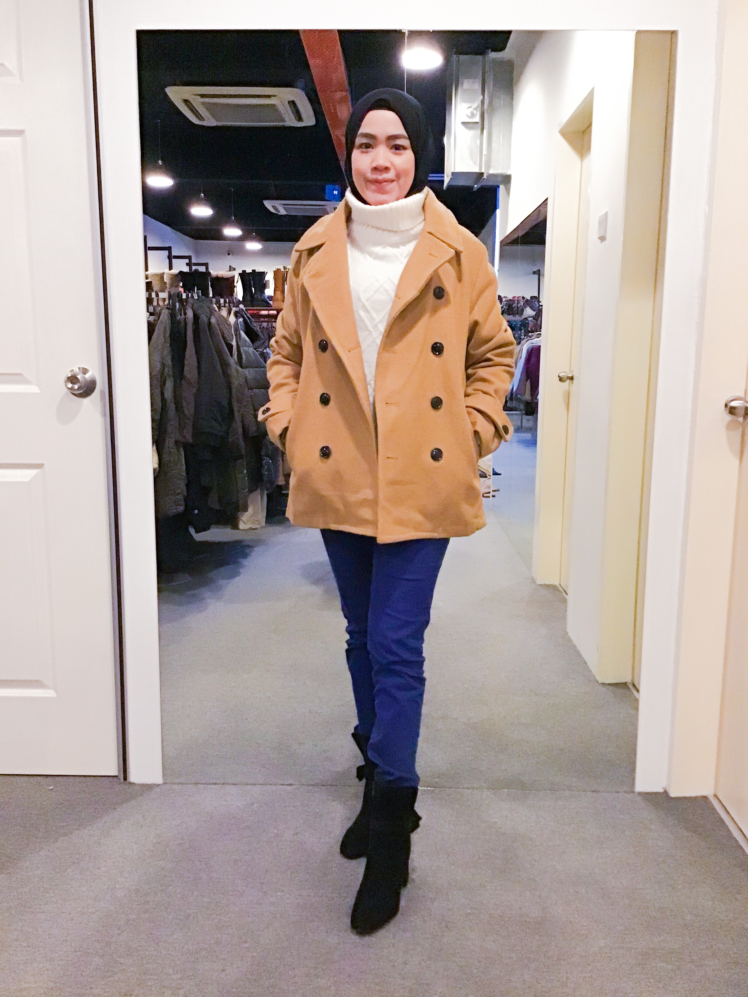 BJ1072 ROSHELL WOOL COAT