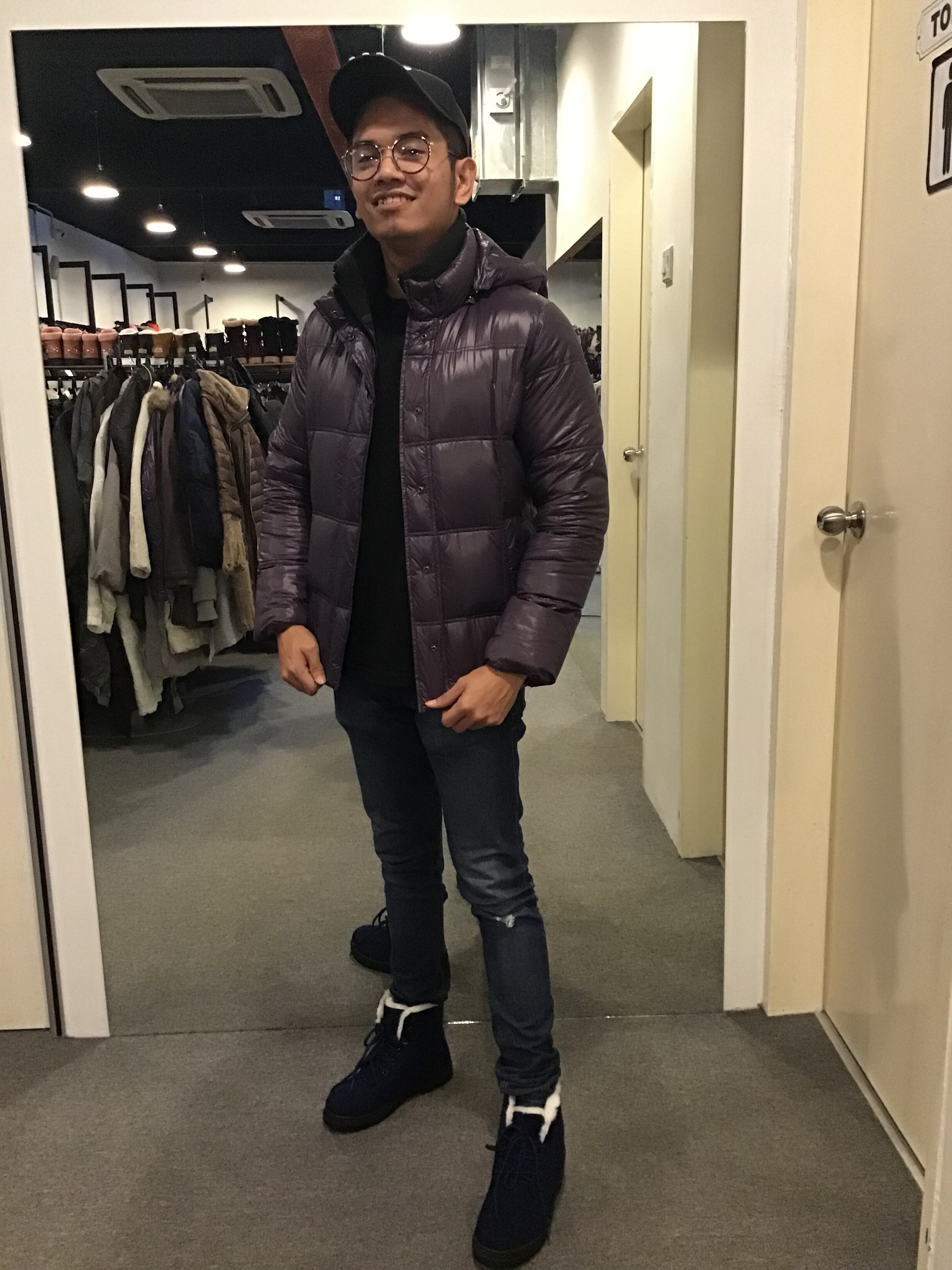 BJ0657 PURPLE DOWN JACKET