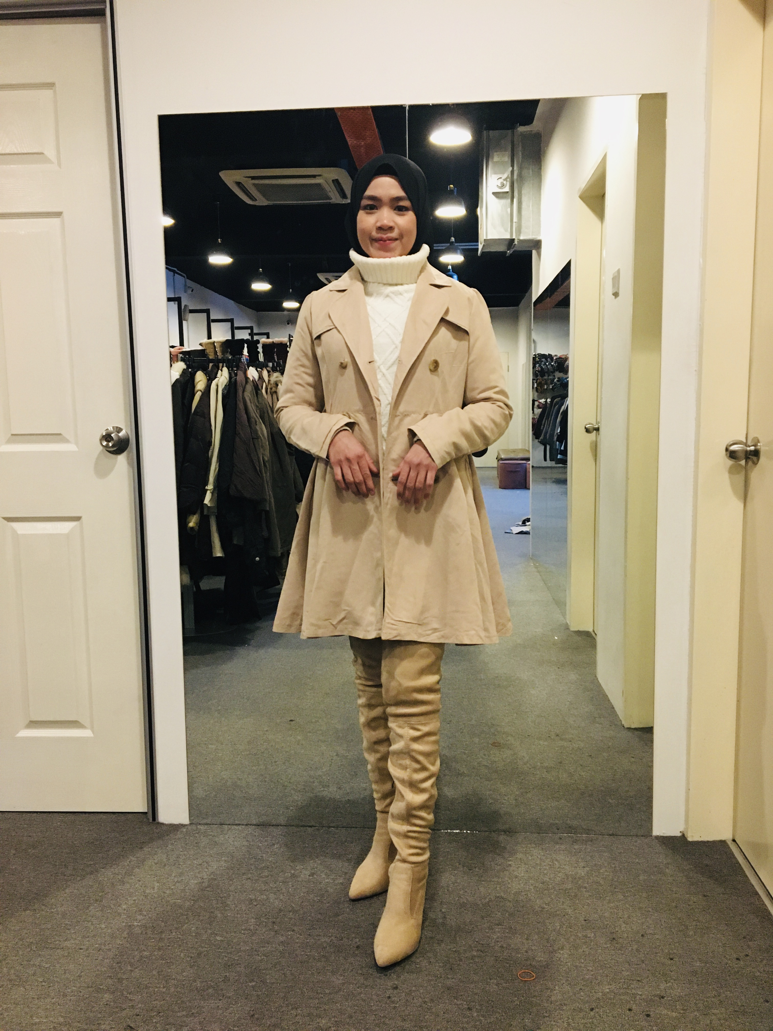 BJ1013 EARTH MUSIC & ECOLOGY TRENCH COAT