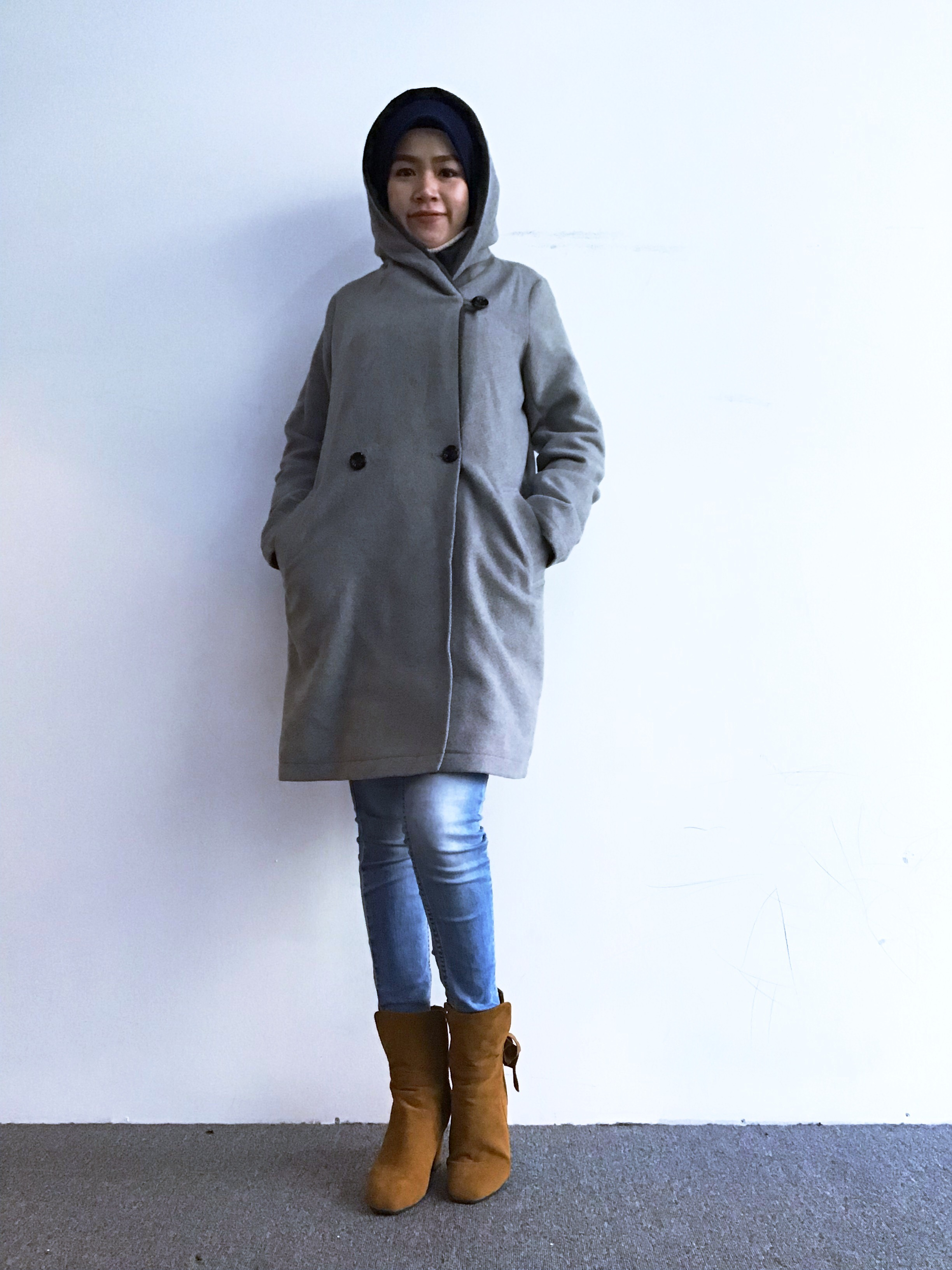 BJ0266 RAY CASSIN WOOL COAT