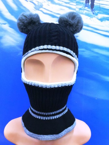 SNOW CAP WITH MOUTH COVERING KIDS (5 COLOUR)