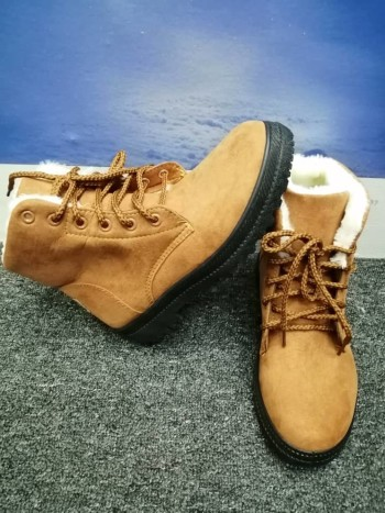 BROWN WINTER SHOES WITH PLUSH