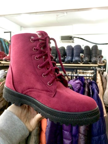 MAROON WINTER SHOES WITH PLUSH (NEW)