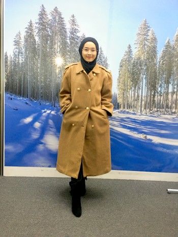 BP5718 FUNNY FACE WOOL COAT