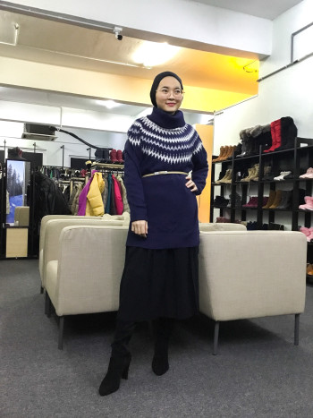 BP6372 NAVY BLUE KNITWEAR