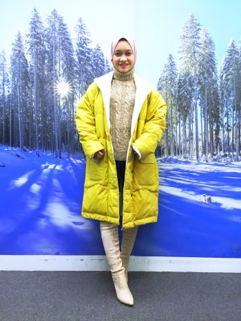 BP5468 YELLOW WINTER JACKET