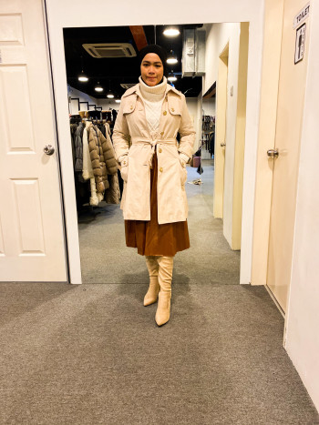 BP6464 HUSHUSH MUSTARD TRENCH COAT - Bundle Preloved
