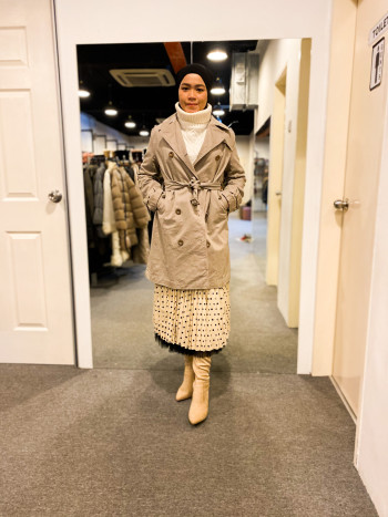 BJ1027 MICHEL BEAUDOUIN TRENCH COAT - Bundle Preloved