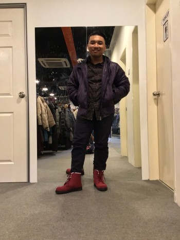 BJ0536 PURPLE WINTER JACKET