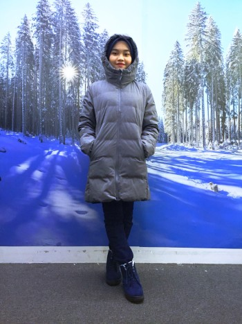 BP5204 UNIQLO GREY DOWN JACKET