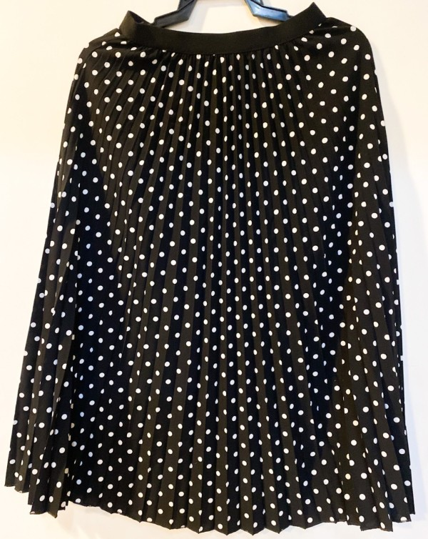 WOMEN HIGH-WAIST PLEATED POLKADOT SKIRTS CASUAL - Bundle Preloved