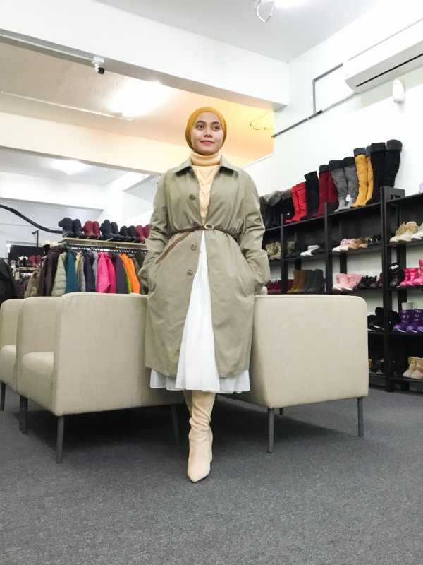BP6486 MADE IN  ITALY TRENCH COAT - Bundle Preloved
